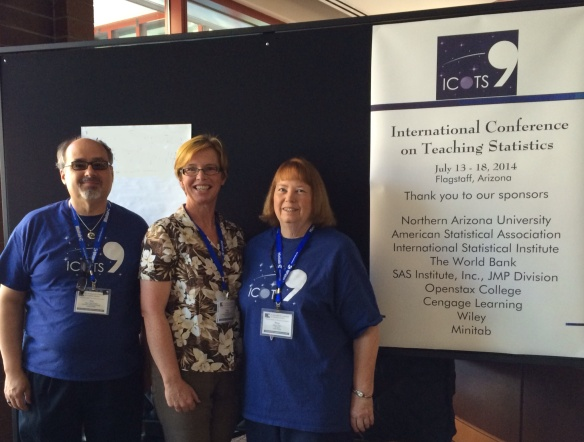 Roy, Dr Nic and Roxy at ICOTS9